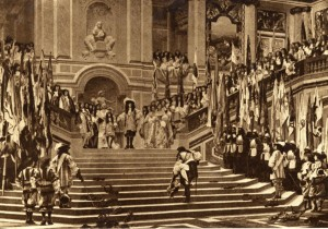 Anon. after Jean-Léon Gérôme, Reception of the Grand Condé at Versailles, 1878, photogravure.