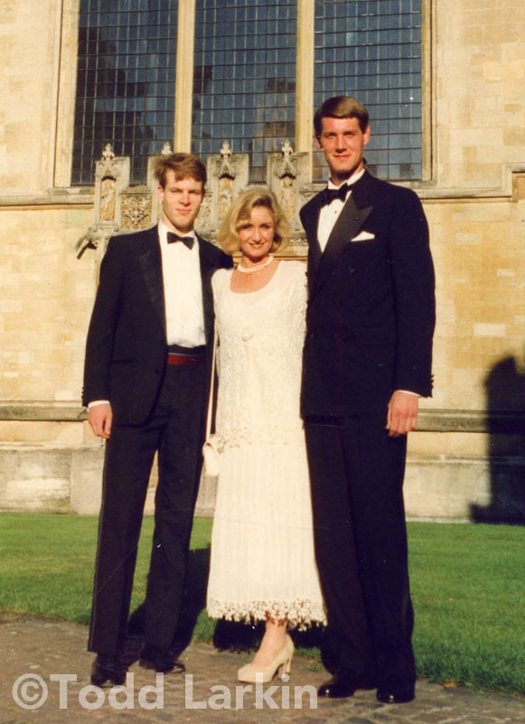 Todd Larkin, Deanna McHugh and friend at Oxford, 1995